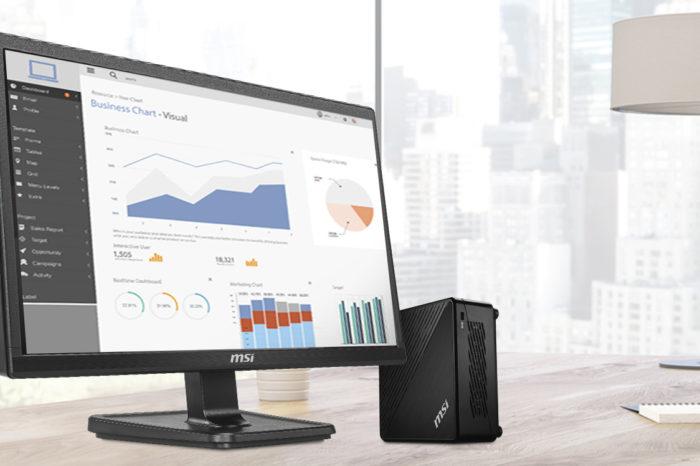 MSI wprowadza duet świetnie uzupełniających się urządzeń: miniaturowy komputer MSI Cubie 5 i biurowy monitor MSI PRO MP221.