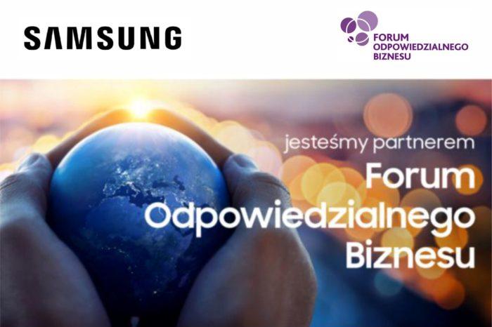 Samsung partnerem strategicznym Forum Odpowiedzialnego Biznesu, w ramach współpracy firma pragnie podzielić się swoimi dobrymi praktykami i działaniami na rzecz zrównoważonego rozwoju.