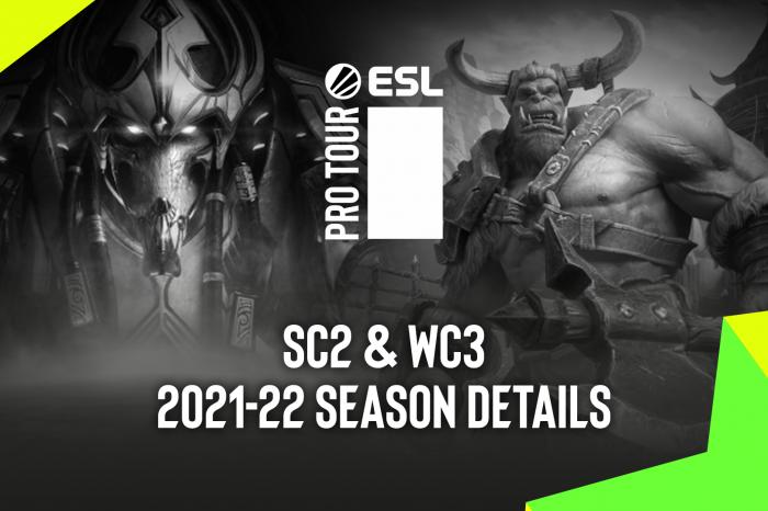ESL Gaming ogłosiło kalendarz turniejowy na sezon 2021/2022 dla ESL Pro Tour StarCraft II i Warcraft III, usuwając przy okazji blokady regionalne!