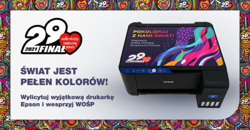 Finał Wielkiej Orkiestry Świątecznej Pomocy w tym roku zagra na… drukarkach Epson! Polski oddział firmy Epson wspiera już 29 finał WOŚP.