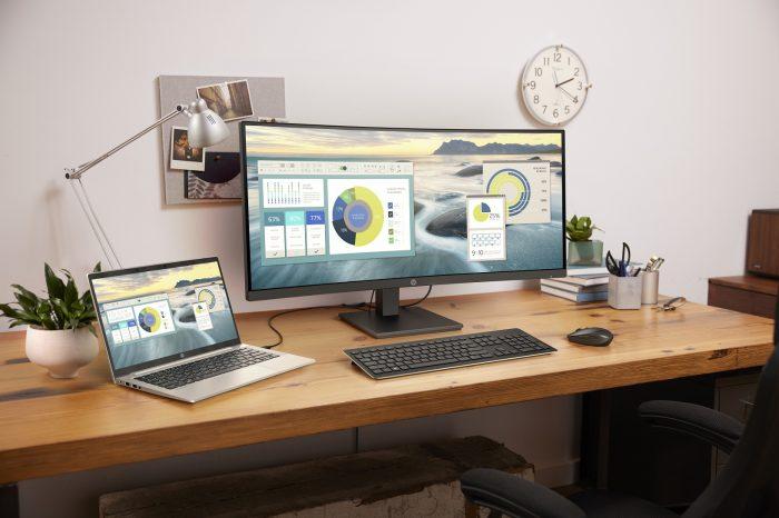 HP zaprezentowała nowe komputery biznesowe i ultra-smukły monitor do pracy zdalnej i biurowej, które pomogą ludziom pozostać w kontakcie i działać swobodnie w niemal każdym otoczeniu.