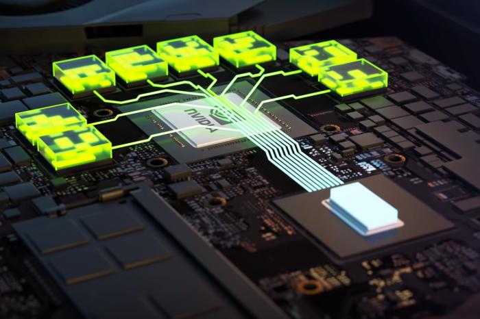 """CES 2021: NVIDIA ogłosiła nowe, mobilne karty graficzne GeForce RTX 3000 - najtańsza z nich ma oferować wydajność """"dotychczasowego flagowca""""."""