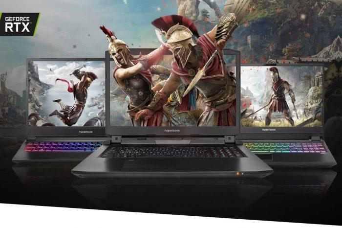 Laptopy dla graczy Hyperbook z kartami graficznymi NVIDIA GeForce RTX 3000 z miłym dodatkiem: subskrypcją usługi cloud gamingowej GeForce NOW.