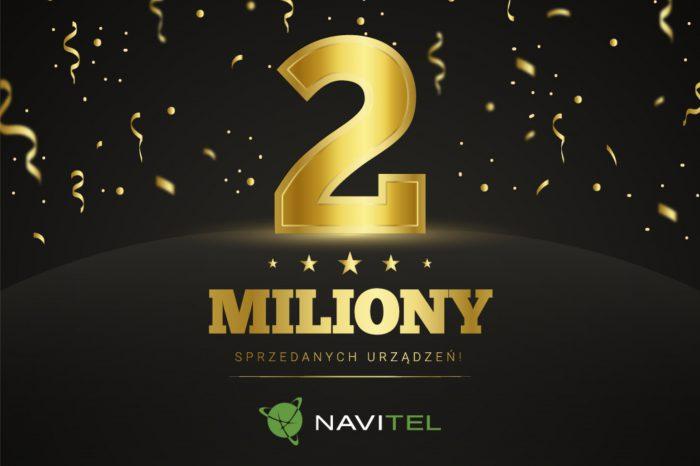 Navitel świętuje sprzedaż 2 milionów urządzeń w państwach Europy Środkowo-Wschodniej, firma zachowuje stabilną pozycję i pozostaje wśród liderów najchętniej kupowanych urządzeń w swojej kategorii.