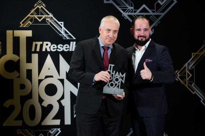 IT Champions 2021: Marek Hojda, Indirect Sales Manager w Hewlett Packard Enterprise Polska z nagrodą indywidualną.