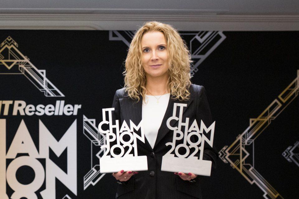 IT Champions 2021: Patrycja Gawarecka, po raz kolejny zwycięża w kategorii najlepszego dyrektora sprzedaży i marketingu.