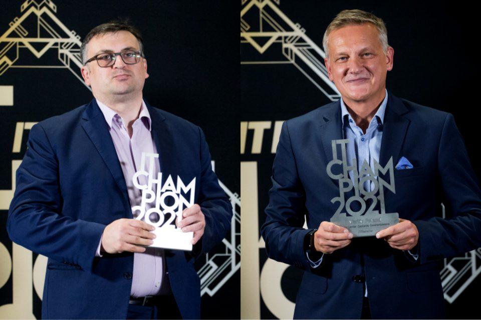 """IT Champions 2021: Andrzej Wróbel i Krzysztof Krawczyk, Vertiv: """"Zasilanie gwarantowane to element łańcucha bezpieczeństwa całego data center""""."""